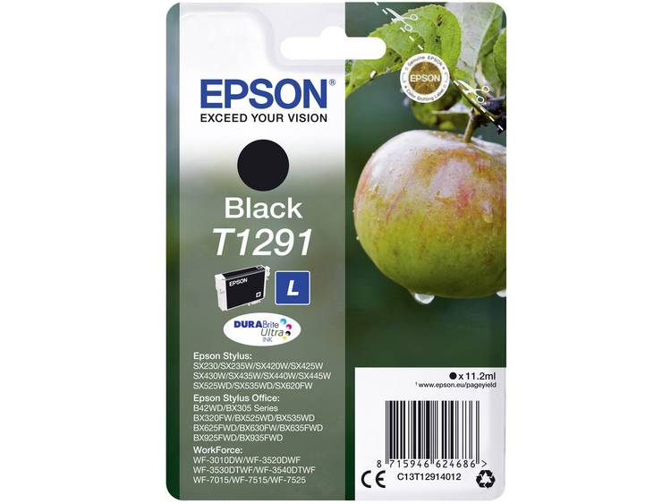 Epson Inkt T1291 Origineel Zwart C13T12914012