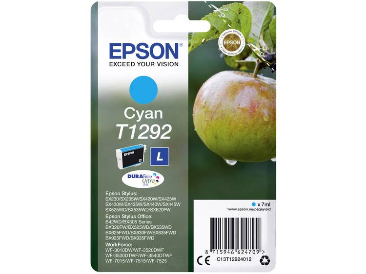 Epson Inkt T1292 Origineel Cyaan C13T12924012