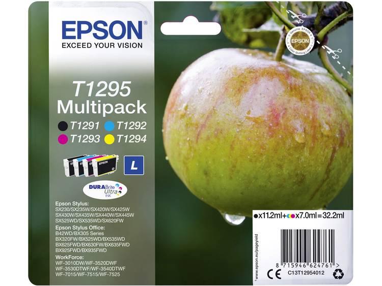 Epson Inkt T1295 Origineel Combipack Zwart, Cyaan, Magenta, Geel C13T12954012