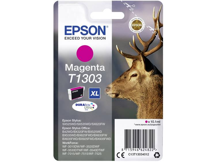 Epson Inkt T1303 Origineel Magenta C13T13034012
