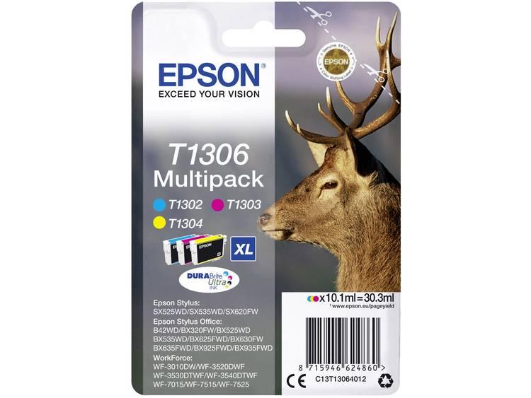 Epson Inkt T1306 Origineel Combipack Cyaan, Magenta, Geel C13T13064012