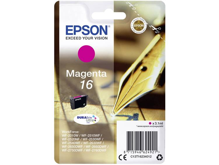Epson Inkt T1623, 16 Origineel Magenta C13T16234012