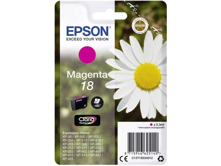 Epson Inkt T1803, 18 Origineel Magenta C13T18034012