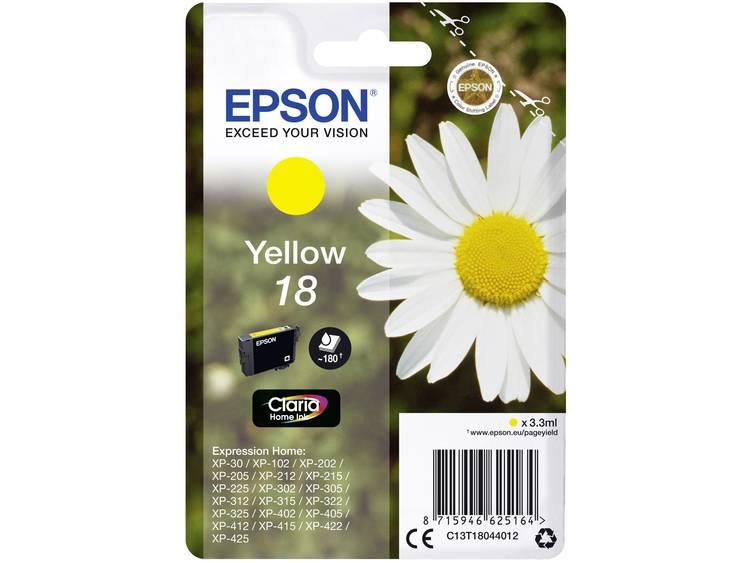 Epson Inkt T1804, 18 Origineel Geel C13T18044012