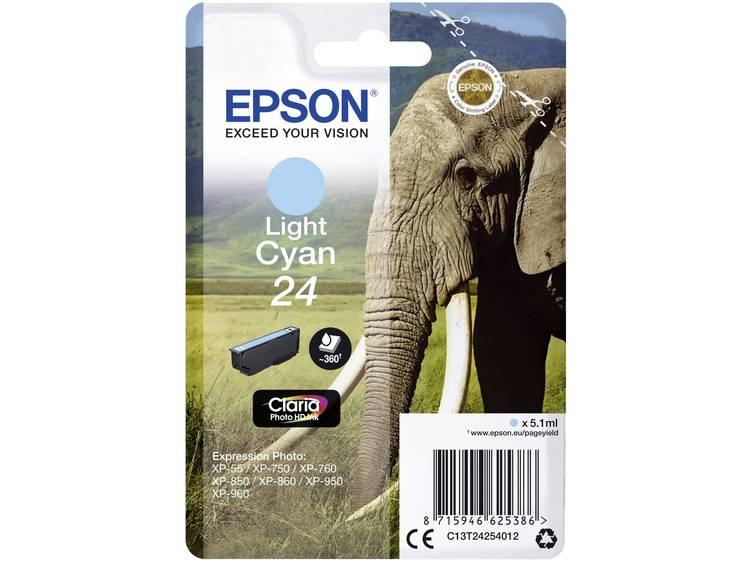 Epson Inkt T2425, 24 Origineel Lichtcyaan C13T24254012