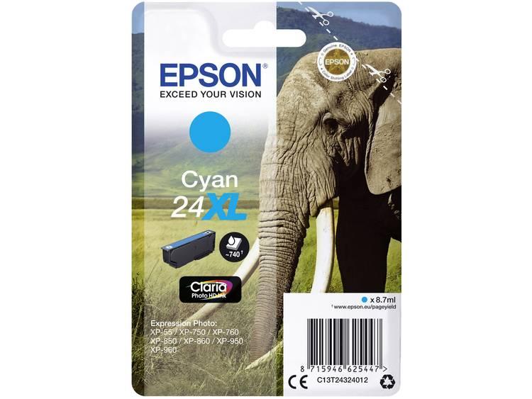 Epson Inkt T2432, 24XL Origineel Cyaan C13T24324012
