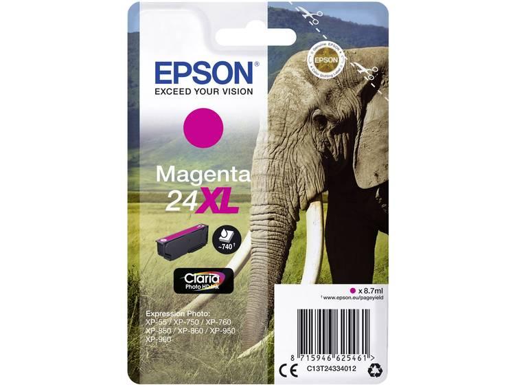 Epson Inkt T2433, 24XL Origineel Magenta C13T24334012