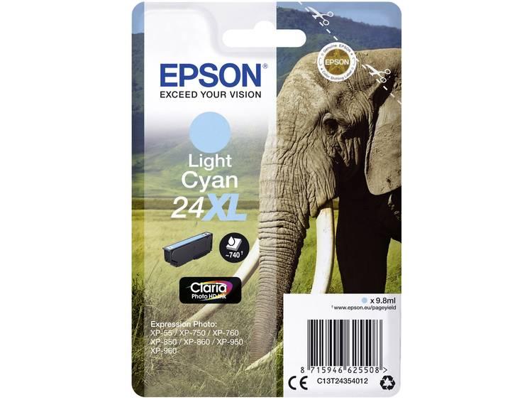 Epson Inkt T2435, 24XL Origineel Lichtcyaan C13T24354012
