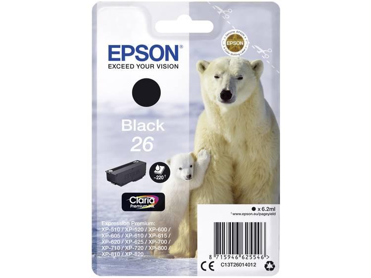 Epson Inkt T2601, 26 Origineel Zwart C13T26014012