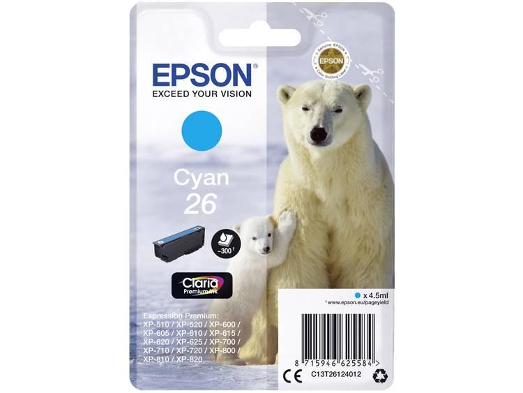 Epson Inkt T2612, 26 Origineel Cyaan C13T26124012