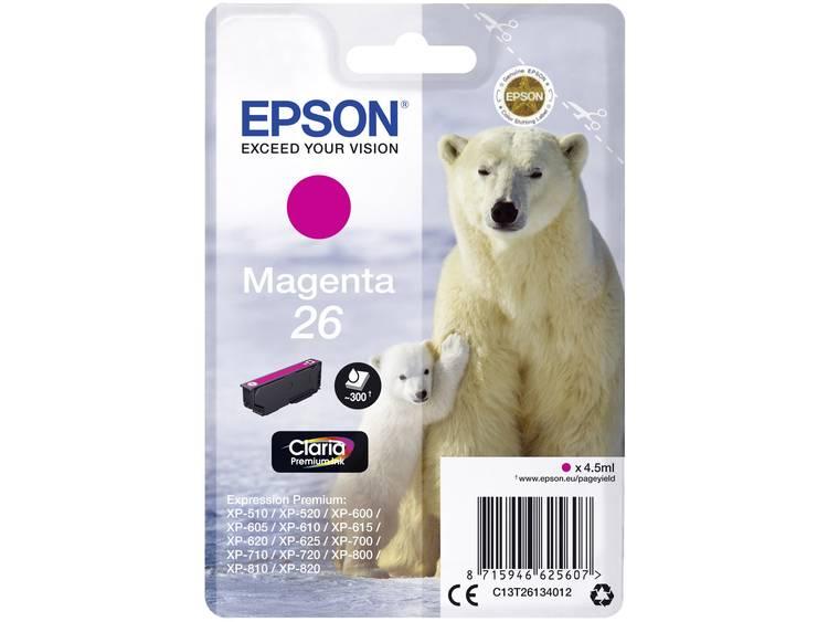 Epson Inkt T2613, 26 Origineel Magenta C13T26134012