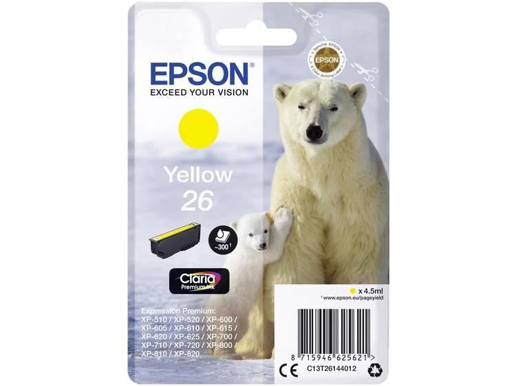 Epson Inkt T2614, 26 Origineel Geel C13T26144012