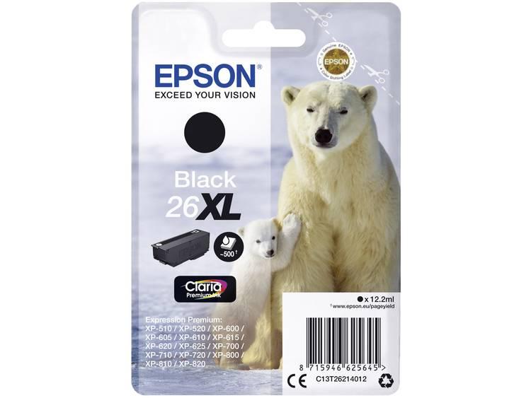 Epson Inkt T2621, 26XL Origineel Zwart C13T26214012
