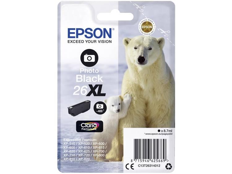 Epson Inkt T2631, 26XL Origineel Foto zwart C13T26314012