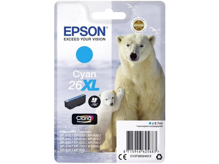 Epson Inkt T2632, 26XL Origineel Cyaan C13T26324012