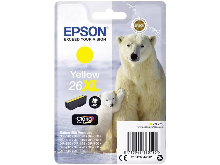 Epson Inkt T2634, 26XL Origineel Geel C13T26344012