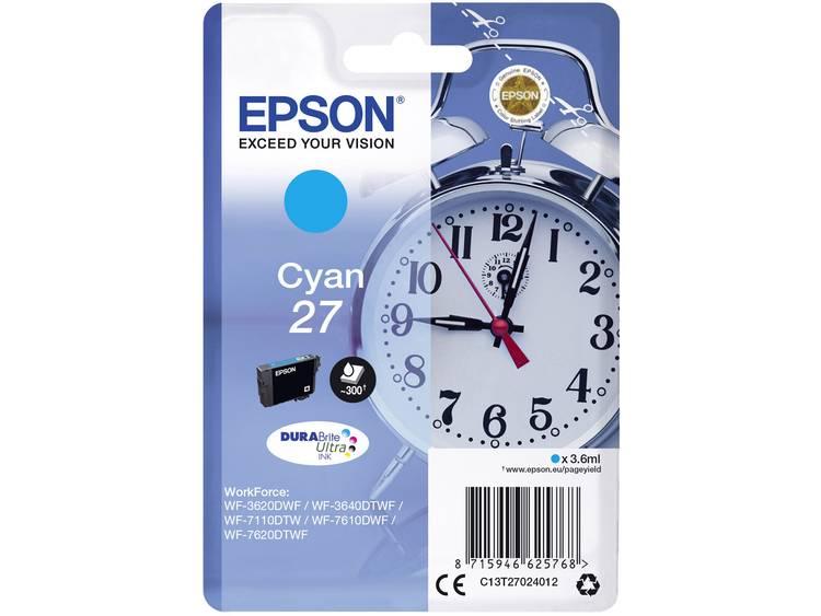 Epson Inkt T2702, 27 Origineel Cyaan C13T27024012