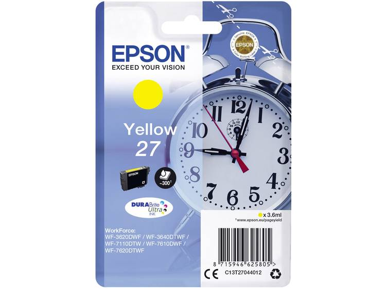 Epson Inkt T2704, 27 Origineel Geel C13T27044012