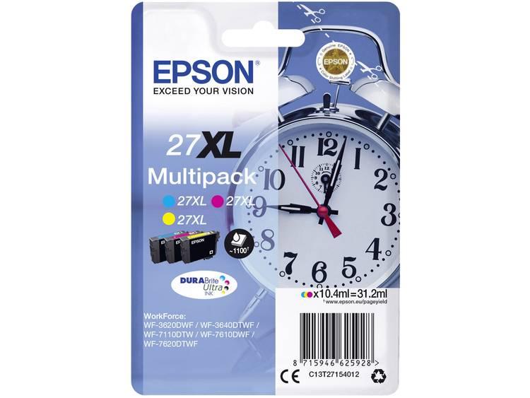 Epson Inkt T2715, 27XL Origineel Combipack Cyaan, Geel, Magenta C13T27154012