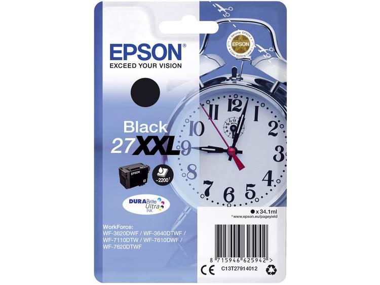 Epson Inkt T2791, 27XXL Origineel Zwart C13T27914012