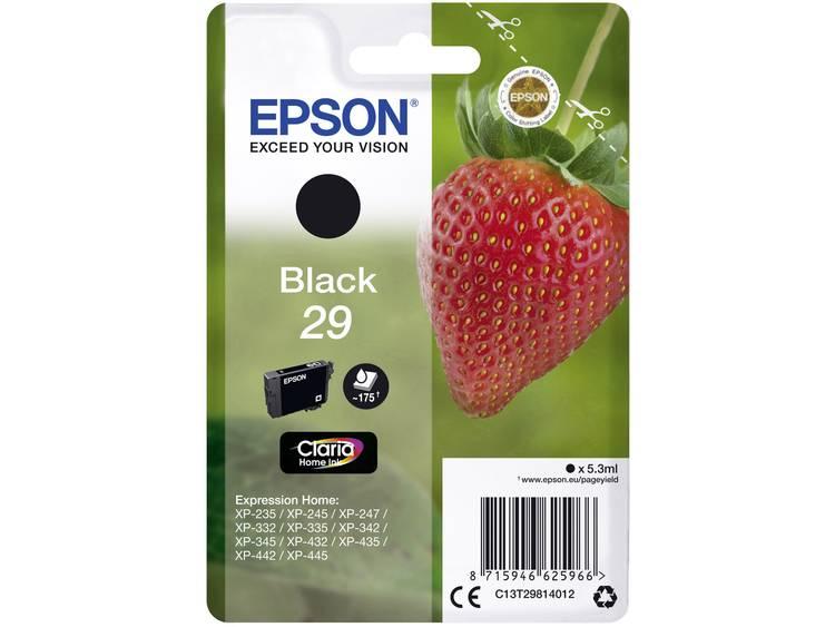 Epson Inkt T2981, 29 Origineel Zwart C13T29814012