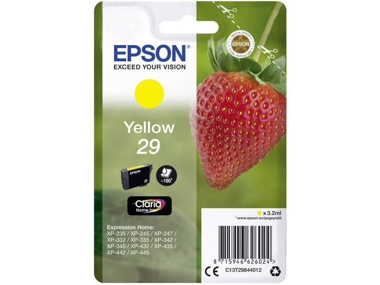 Epson Inkt T2984, 29 Origineel Geel C13T29844012