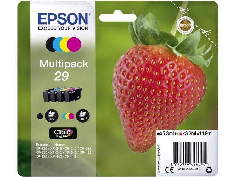 Epson Inkt T2986, 29 Origineel Combipack Zwart, Cyaan, Magenta, Geel C13T29864012