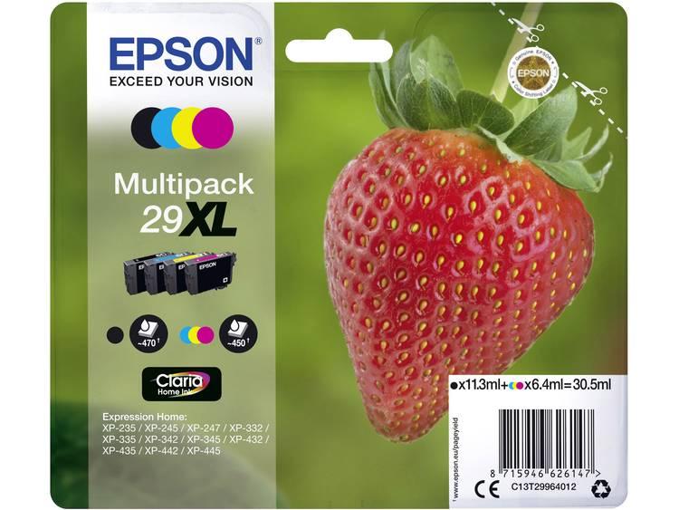 Epson Inkt T2996, 29XL Origineel Combipack Zwart, Cyaan, Magenta, Geel C13T29964012