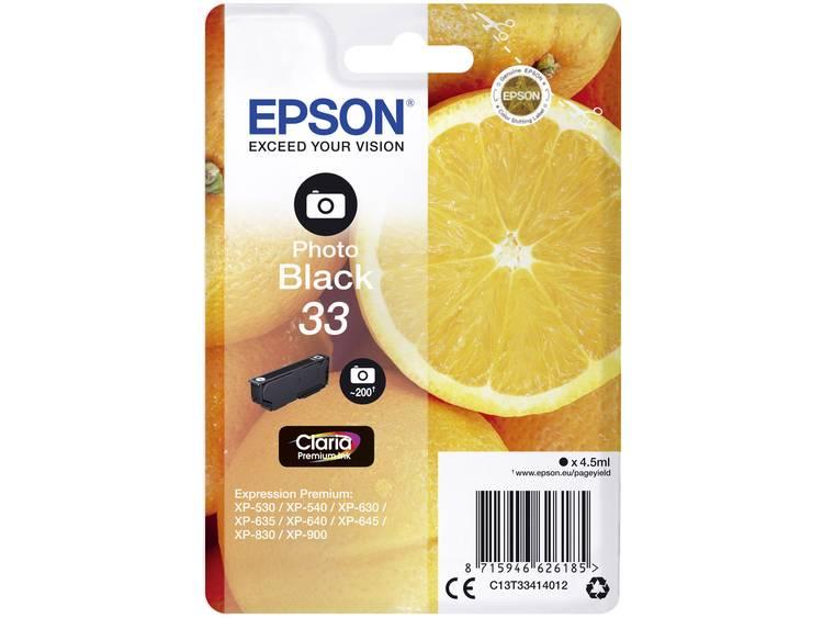 Epson Inkt T3341, 33 Origineel Foto zwart C13T33414012