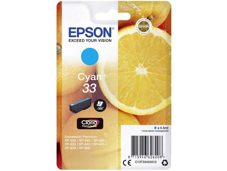 Epson Inkt T3342, 33 Origineel Cyaan C13T33424012