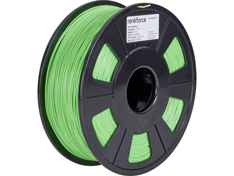 Filament Renkforce PLA kunststof 1.75 mm Groen 1 kg