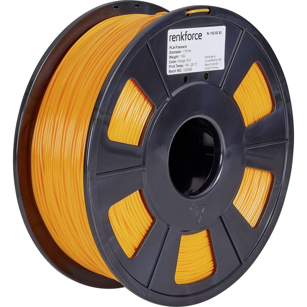 Renkforce RF-4511208 3D-skrivare Filament PLA-plast 1.75 mm 1000 g Orange 1 st