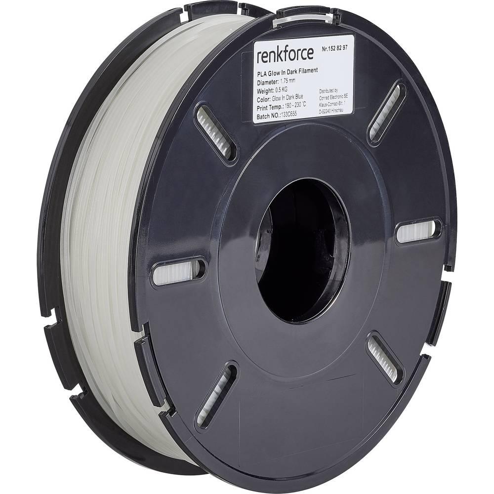 Renkforce RF-4511206 3D-skrivare Filament PLA-plast 1.75 mm 500 g Blå (fluoriserande) 1 st