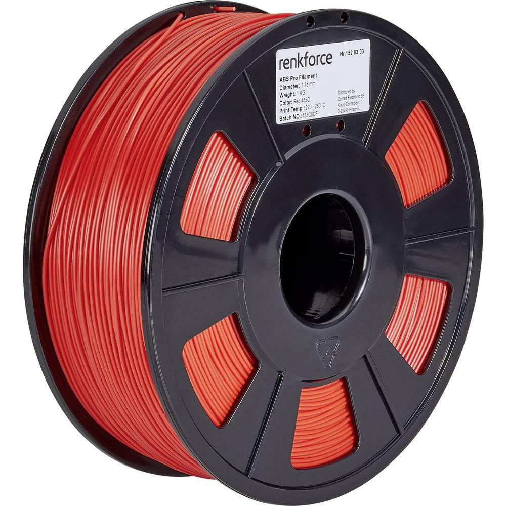3D-skrivare Filament Renkforce ABS-plast 1.75 mm Röd 1 kg