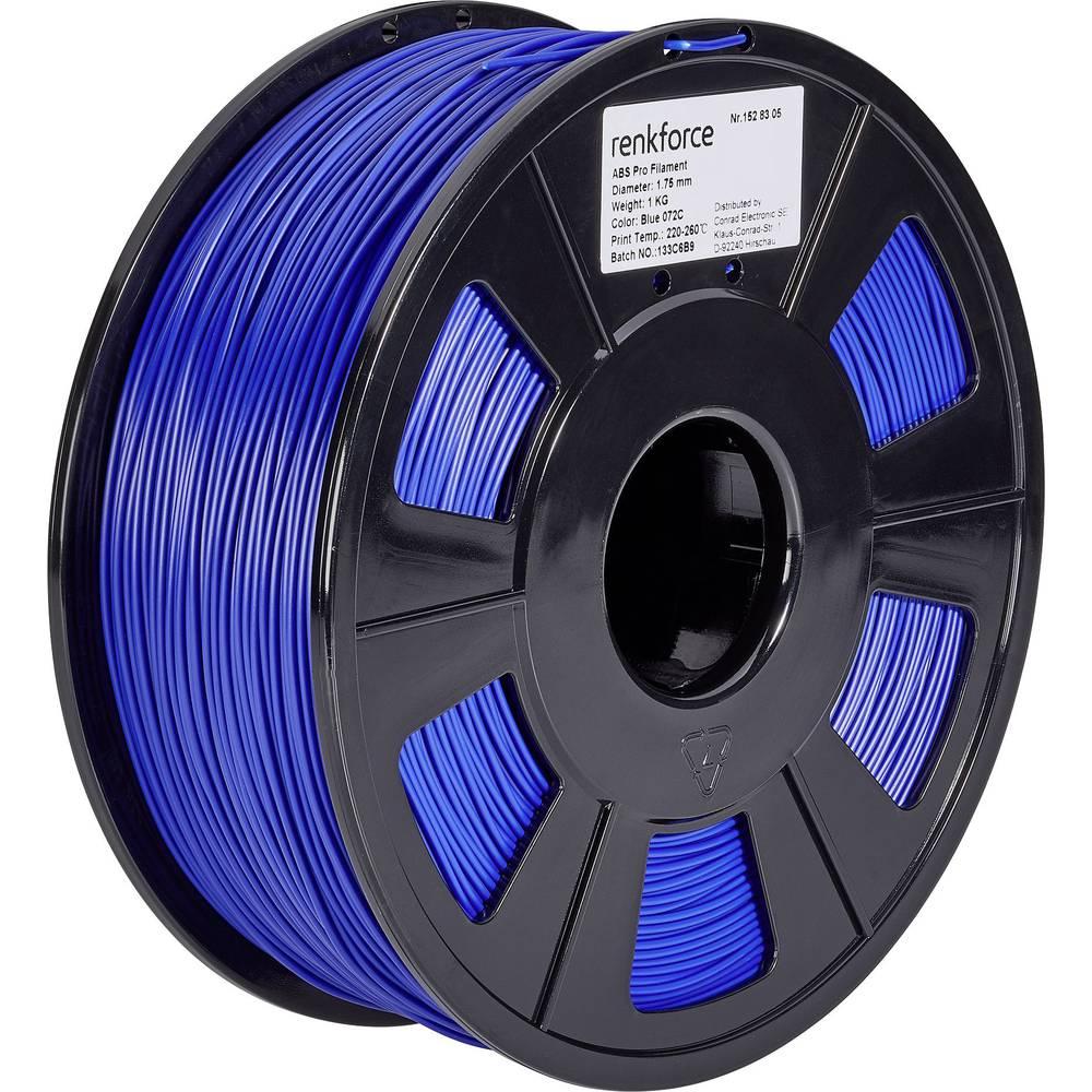 3D-skrivare Filament Renkforce ABS-plast 1.75 mm Blå 1 kg