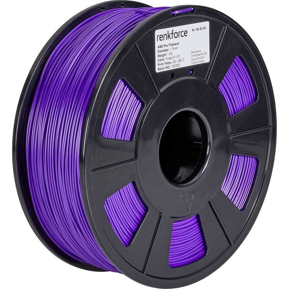 3D-skrivare Filament Renkforce ABS-plast 1.75 mm Purpur 1 kg