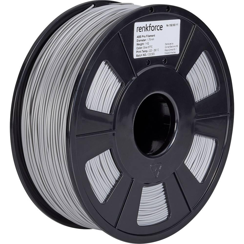 3D-skrivare Filament Renkforce ABS-plast 1.75 mm Silver 1 kg