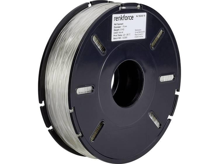 Filament Renkforce 01.04.06.5101 PA (Polyamide) 1.75 mm Transparant 500 g