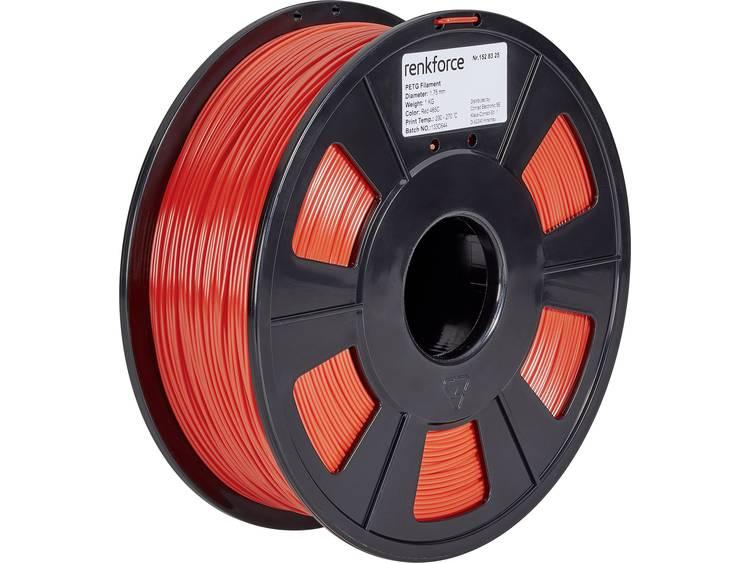 Filament Renkforce 01.04.18.1104 PETG 1.75 mm Rood 1 kg