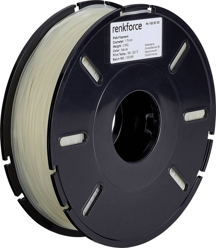 Filament Renkforce PVA kunststof 1.75 mm Transparant 500 g