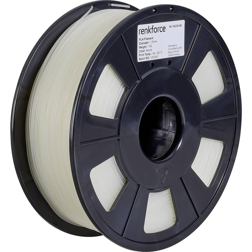 Renkforce RF-4511200 3D-skrivare Filament PLA-plast 1.75 mm 1000 g Transparent 1 st