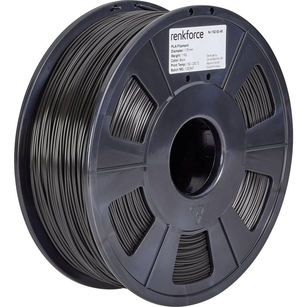 Renkforce RF-4511188 3D-skrivare Filament PLA-plast 1.75 mm 1000 g Svart 1 st