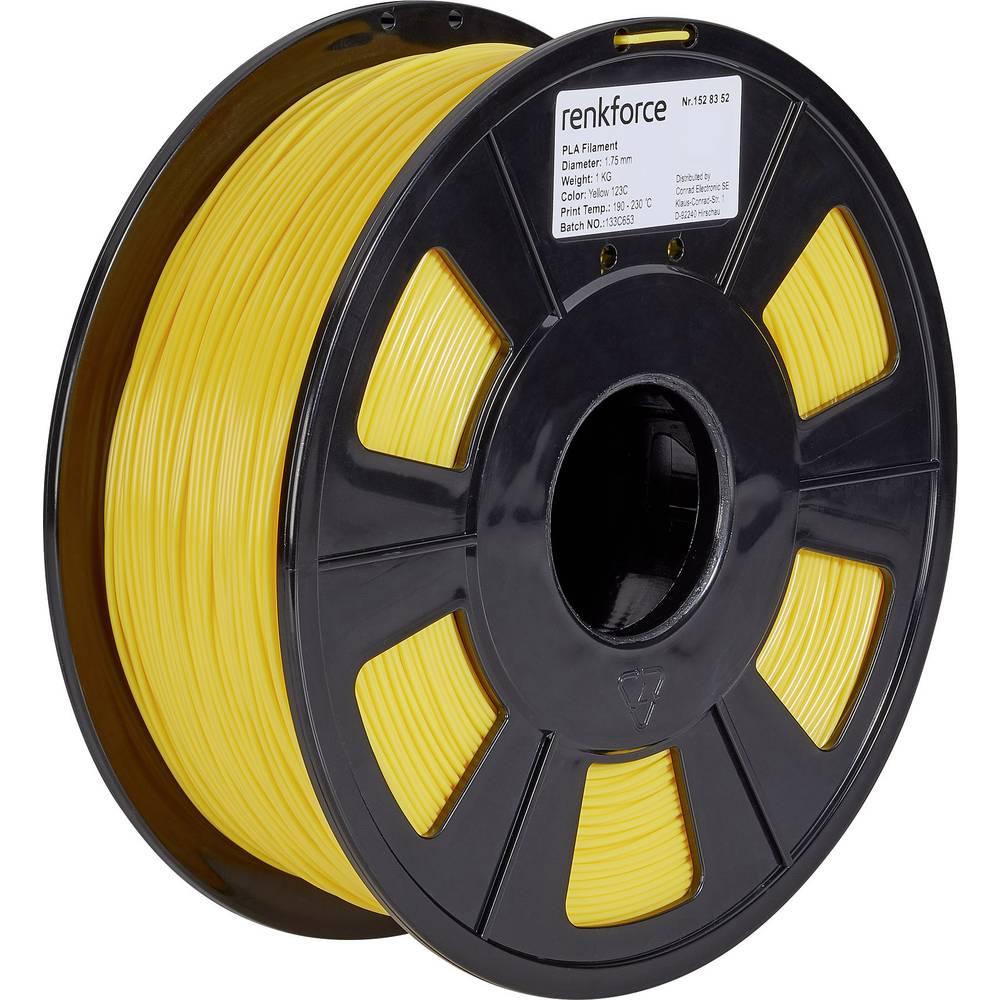 Renkforce RF-4511202 3D-skrivare Filament PLA-plast 1.75 mm 1000 g Gul 1 st