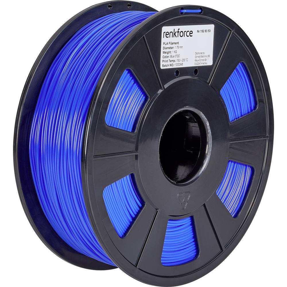 Renkforce RF-4511222 3D-skrivare Filament PLA-plast 2.85 mm 1000 g Blå 1 st
