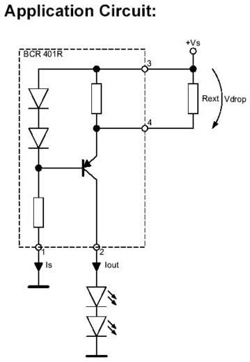LED-DRIVER BCR401R/Q62702C2695 BCR401R