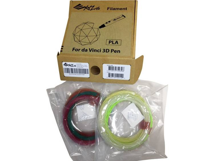 Filamentpakket XYZprinting RFPLDXTW00H PLA kunststof 1.75 mm Veelkleurig gesorteerd