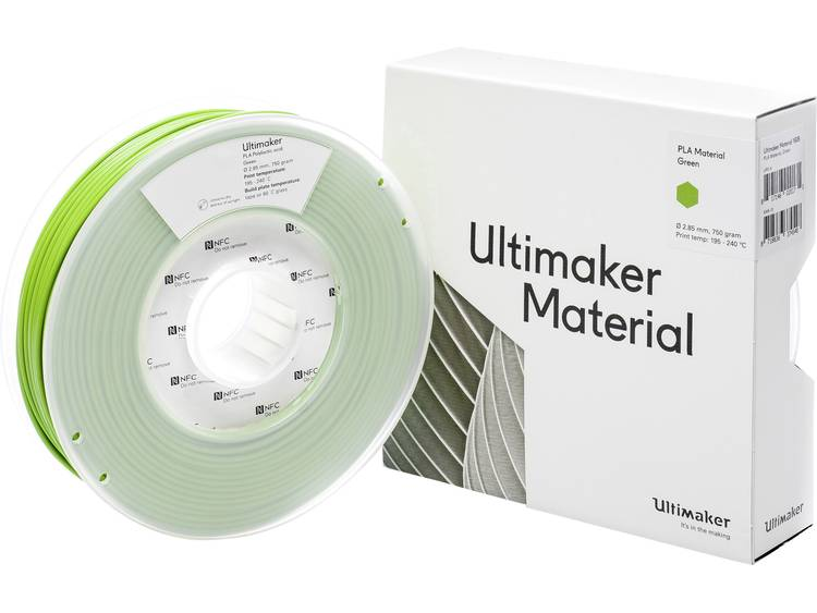 Ultimaker PLA M0751 Green 750 211399 Filament PLA kunststof 2.85 mm Groen 750 g
