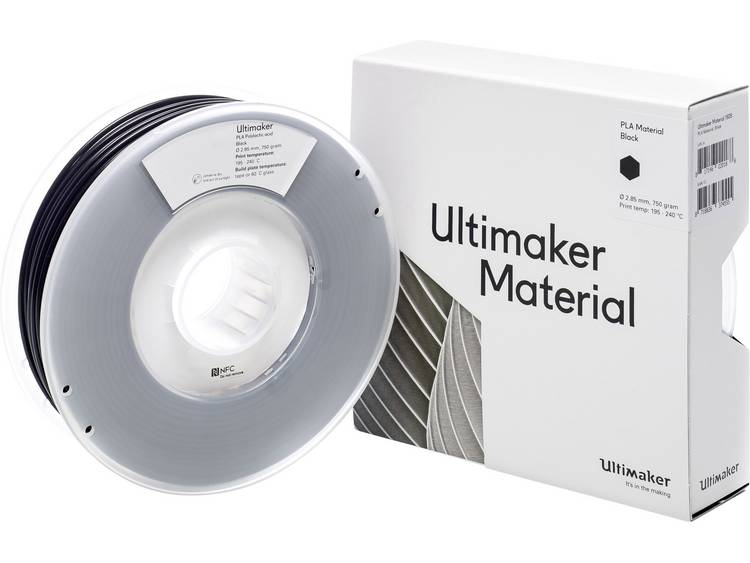 Ultimaker PLA M0751 Black 750 211399 Filament PLA kunststof 2.85 mm 750 g
