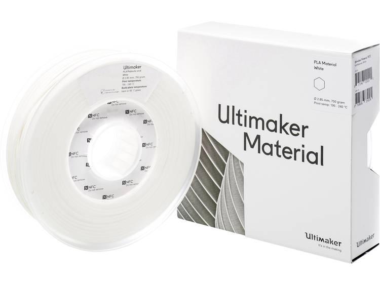 Filament Ultimaker PLA - M0751 White 750 - 211399 PLA kunststof 2.85 mm Wit 750 g