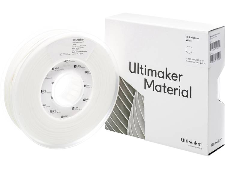 Ultimaker PLA M0751 White 750 211399 Filament PLA kunststof 2.85 mm 750 g